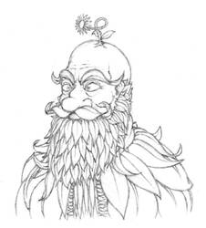 Leafbeard (Sketch) by TheMisch
