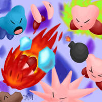 Kirby 64 Attack Collage. by kirbygurl