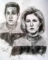 Janeway and Chakotay by cormak
