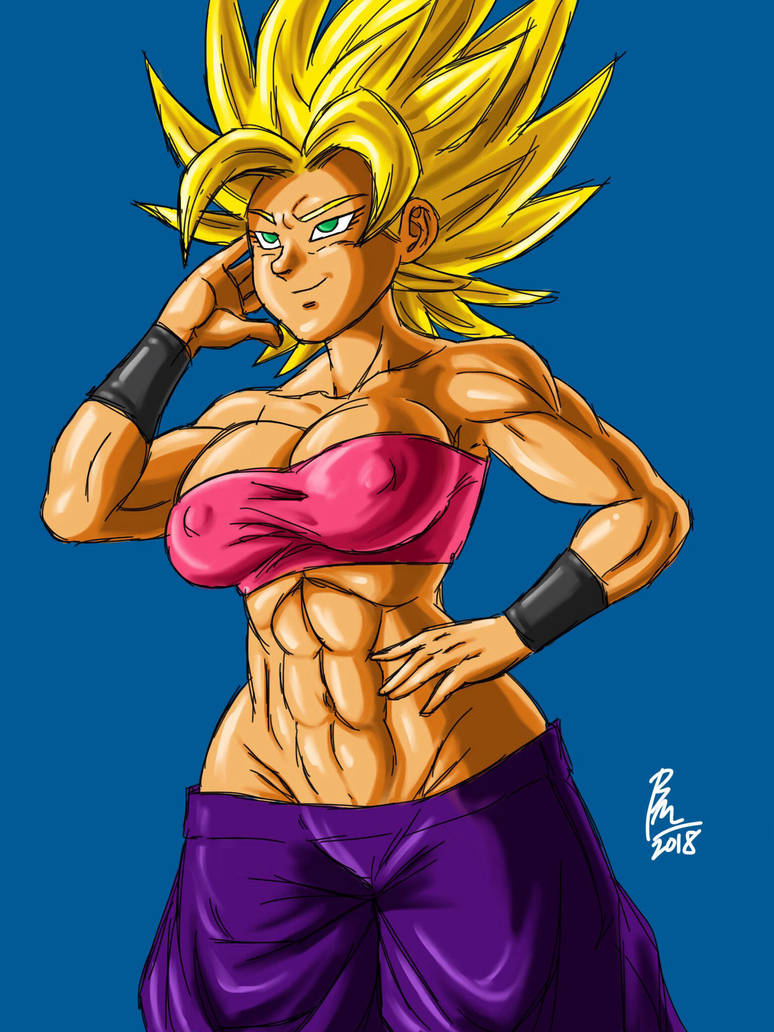 Super Saiyan Caulifla by BM-Illustrations