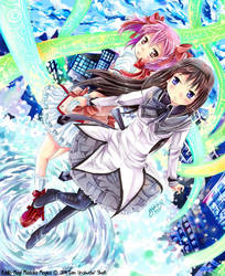 Puella Magi-Madoka and Homura- by GXsion