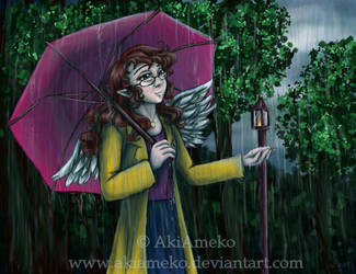 Entranced by the Rain by AkiAmeko