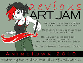 Devious Art Jam 2010 by AkiAmeko