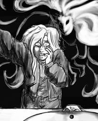 Drawtober?  Inktober? Day 1 Ghost by Golden-Dragon-Girl