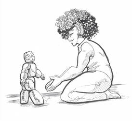 inktober2018-7 Human by Golden-Dragon-Girl