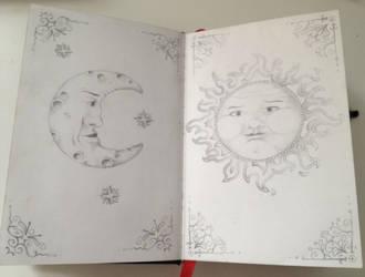 Moon/Sun by LineBorowski