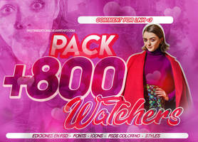 +PACK 8OO WATCHERS by Rainbow-ArtLight