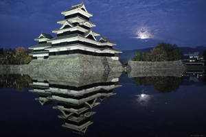 Matsumoto Castle at Night by prozzaks