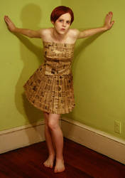 paper bag dress 1 by AttempteStock
