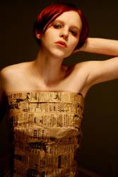 paper bag dress 2 by AttempteStock