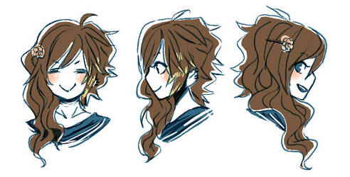 + tomo's hairstyle chart + by Bunny-Boss