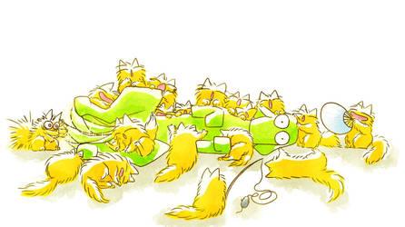 Dog and Cat cat cat cat cat cat cat cat cat by nekomeandon