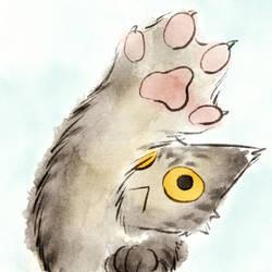 cat hand by nekomeandon