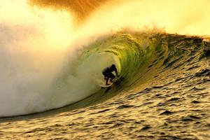 a golden wave by kopiwave