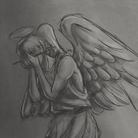 The Weeping Britannia Angel by GhostoftheCarousel