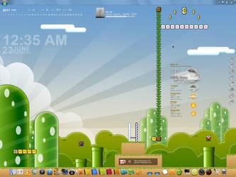 June 2011 SNES Mario Desktop by grebtech