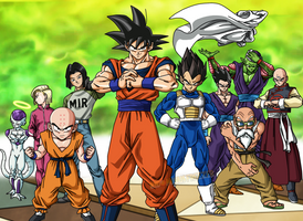 TEAM UNIVERSE 07 - COLORS DRAGON BALL SUPER by IndominusFreezer