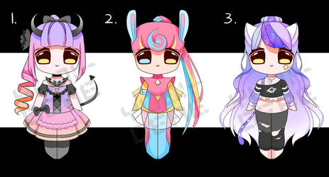[CLOSED] Smol Chibi Adopts Auction .6 by Chromlyte