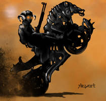 Motorcycle Knight by stewart1386