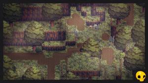 RPG Maker Tiles with Isometric Foliage by GoldenSkullStudios