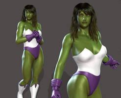 SHE-HULK: Brah... Do you even lift? by Furbs3D