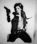 Han Solo stencil by jlcomix