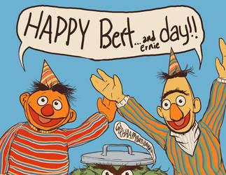 Happy Bert...and ernie Day by jlcomix