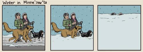 Winter in Minne'snow'ta by jlcomix