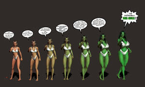 Nancy Preston becomes the She-Hulk again ! by marston004