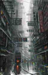 hongkong by wlop