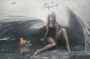 Angel by wlop