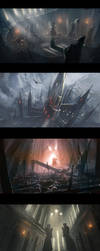 scenes for ShadowGate by wlop