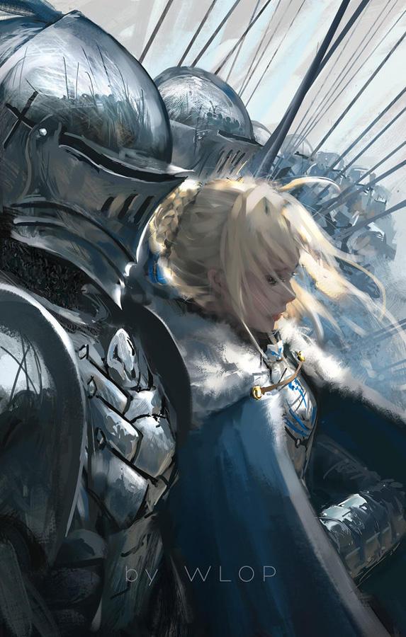 Saber Lancelot by wlop