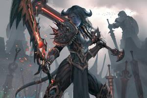 Warrior - World of Warcraft by wlop