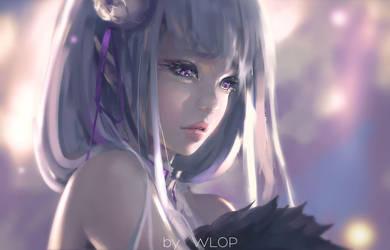Emilia by wlop