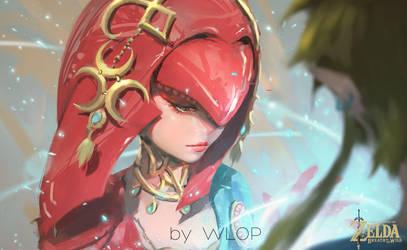 Mipha by wlop