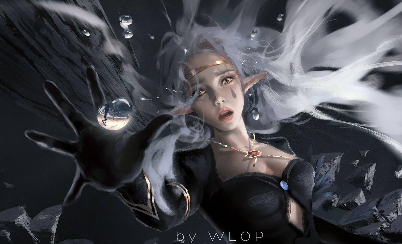 Fall by wlop