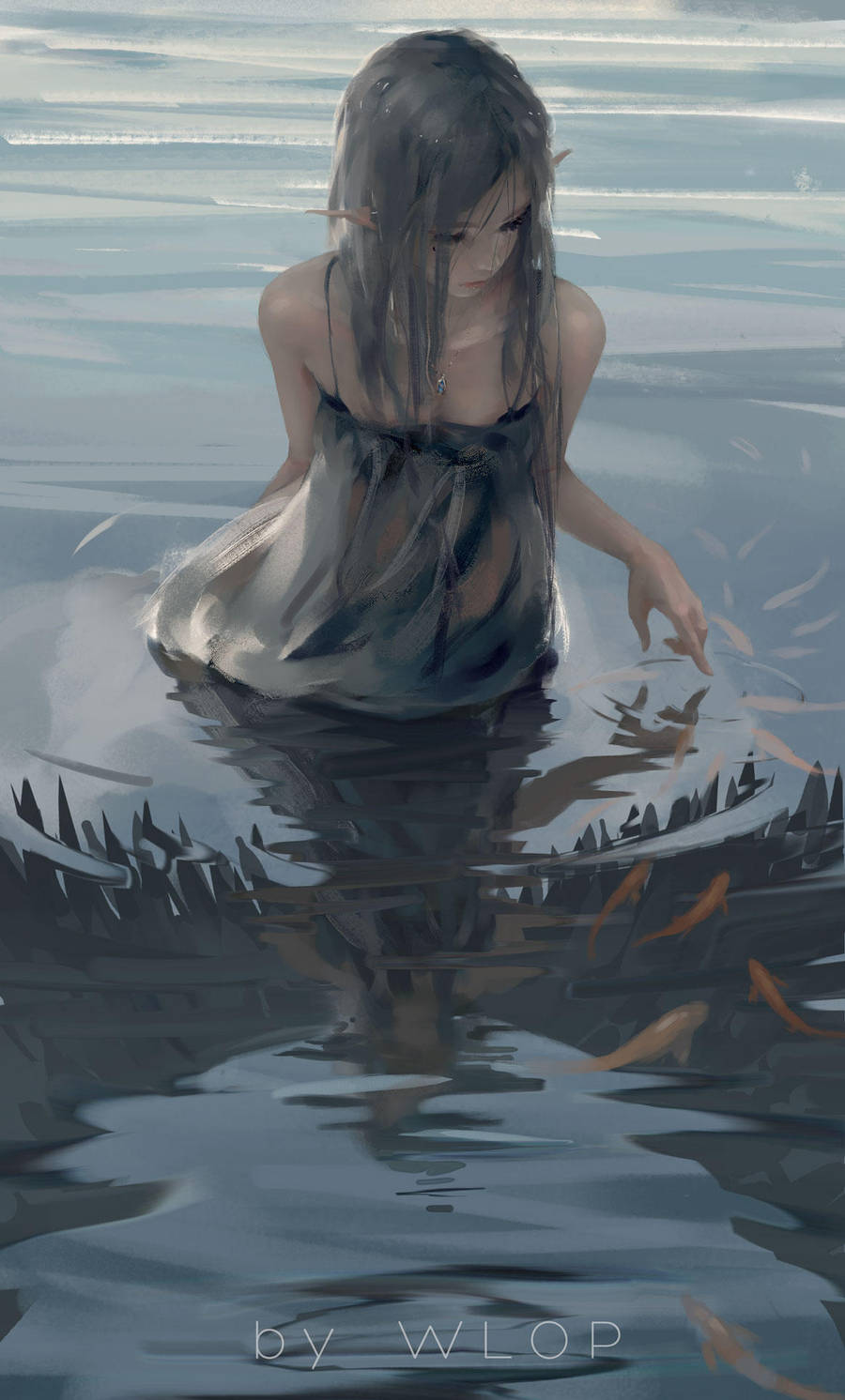 water by wlop