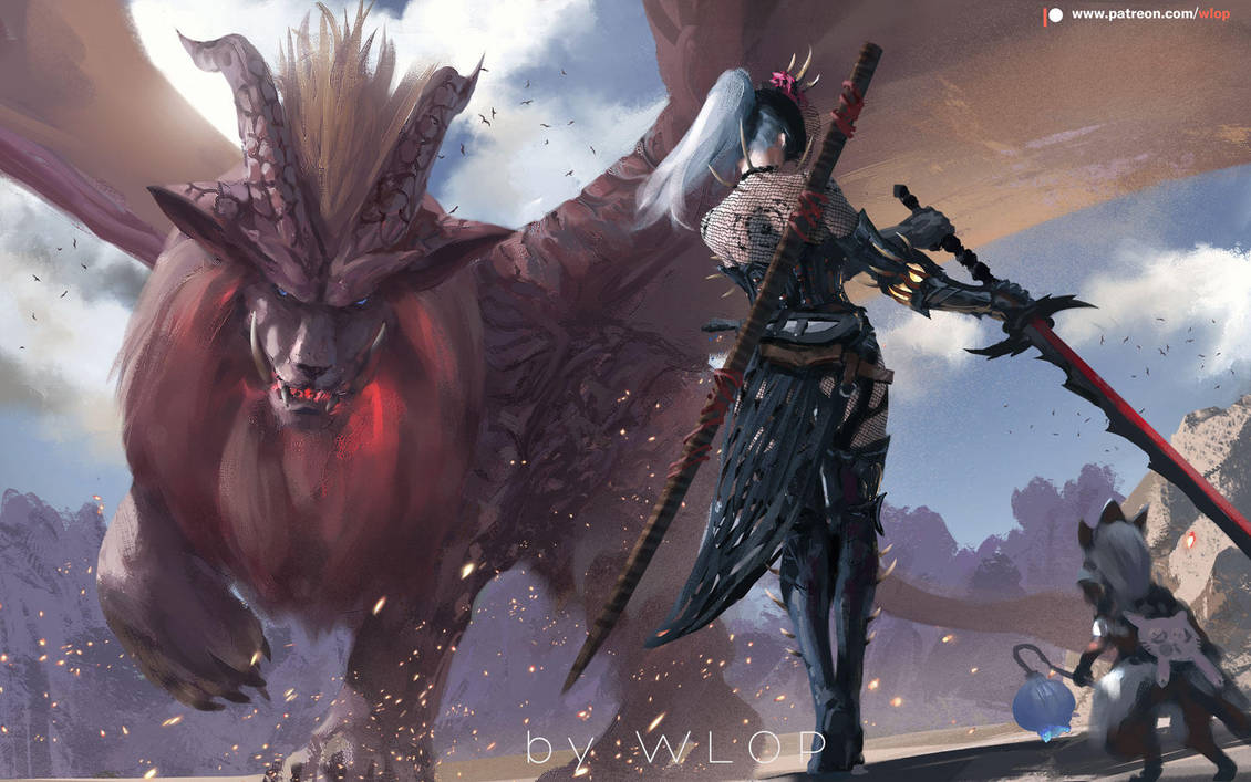 Monster Hunter by wlop