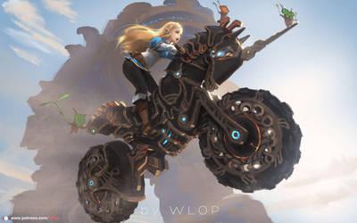Zelda by wlop