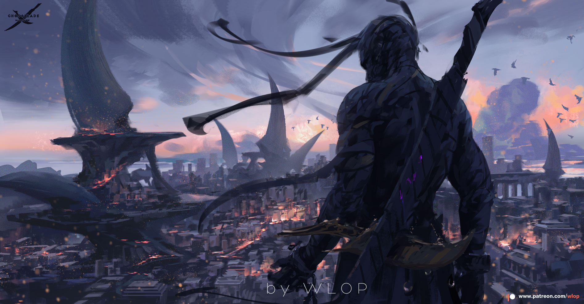 Ghostblade by wlop