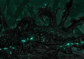Fungal Ruins (Fantasy Landscape) by Adam-The-Person