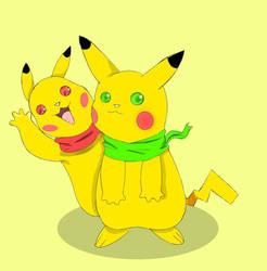 pikachu by N-K-A