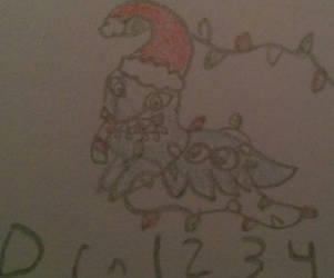 Christmas caterpillar art trade by drn1234