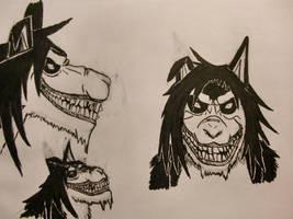 Demon Smile.dog - Sketch Dump by YukaiRyujin