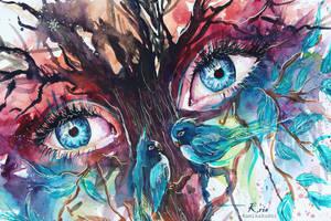eyes of the trees detail by Kris-Kamikakushi