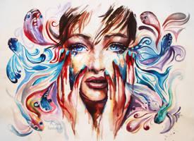 Melancholy through my fingers by Kris-Kamikakushi