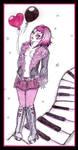 . pink hearts . by neurolepsia