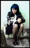 Girl and Dog by neurolepsia