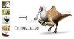 Deinocheirus (Moderna Animal Mashup) by FredtheDinosaurman